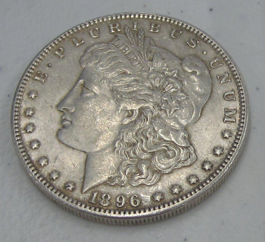 Au/Bu 1896 MORGAN SILVER DOLLAR