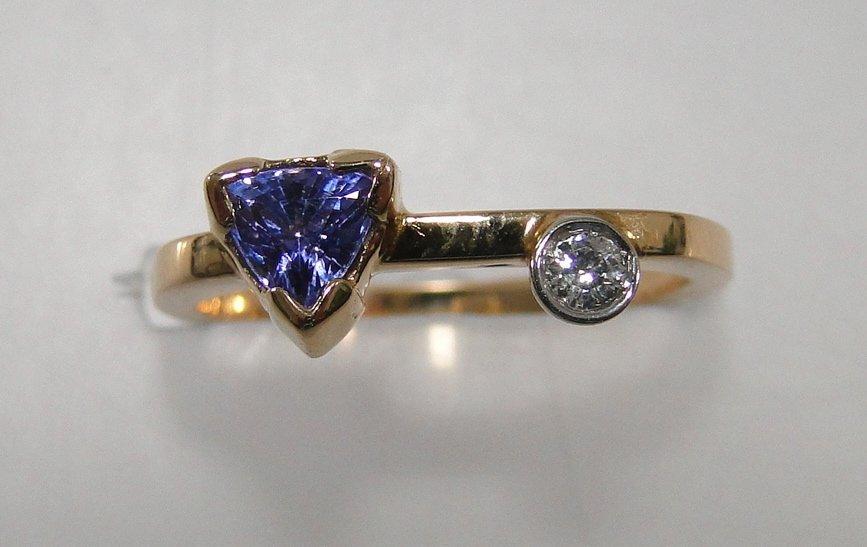 14K Tanzanite and Diamond Ring,