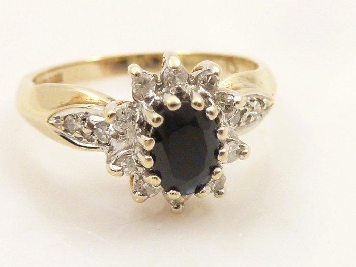 Diamant Safier Ring