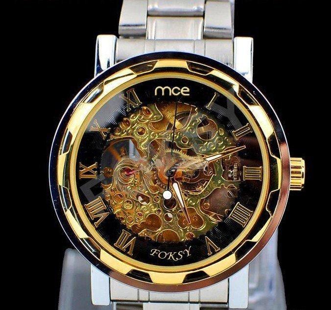 Exquisite Hollow design mechanical watch for men