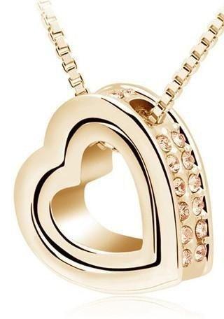 SWAROVSKI CRYSTALS Heart Pendant Necklace