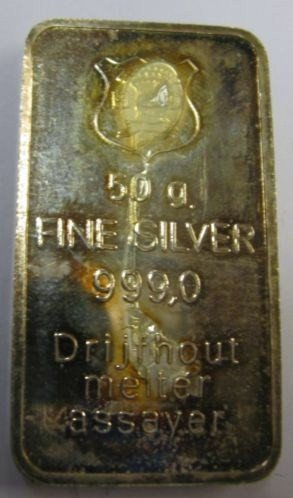 Silver bar 50 grams of Driftwood
