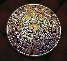 Gold Mayan Calendar 999 24 Karat Gold Coin