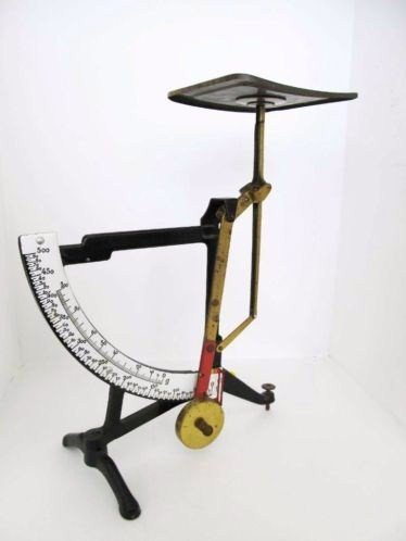 letter scale antique scale 100/500