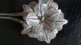 18TH CENTURY ANTIQUE 925 SILVER INDONESIAN HAIRPIN
