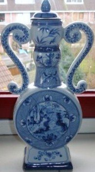 old chinese porcelain moon flask
