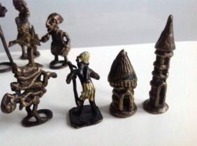 9 different African bronze statues