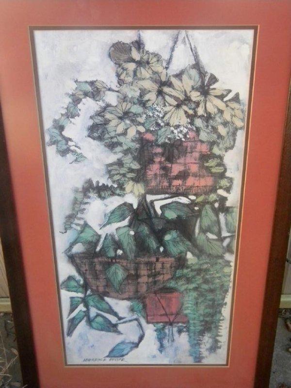 Vintage Painting of a planter Framed