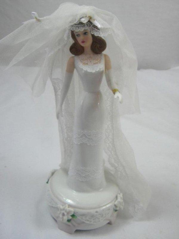 Vintage Porcelain Bridal Music Box