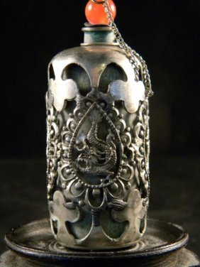 Antique Chinese Dragon Snuff Bottle