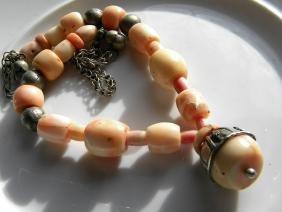 Antique Pink Coral Necklace