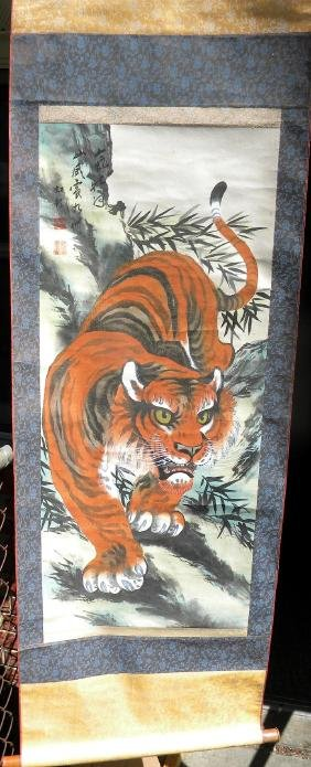 Vintage Chinese Tiger Painting