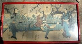 Antique Japanese Print Framed