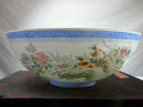 Huge Vintage Chinese Egg Shell Bowl with origional Box