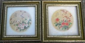 Pair of Antique Chinese Painting Framed