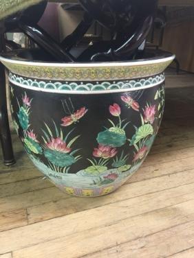 Chinese Black Glazed Fish Bowl