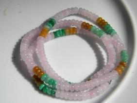 Natural Pink Jadeite Necklace