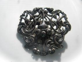 Antique Sterling Brooch Pin
