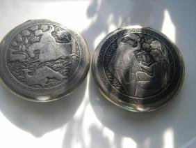 Two Antique Silver Sterling Boxes