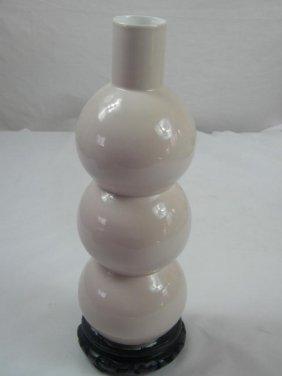 Antique Pink Glazed Vase