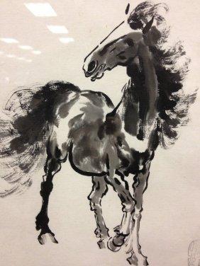 Chinese horse painting Beihong
