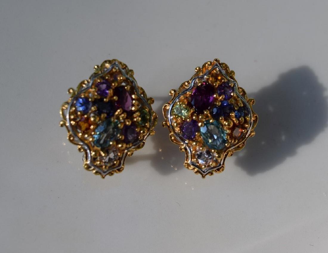 Pair of Vintage Silver Earrings