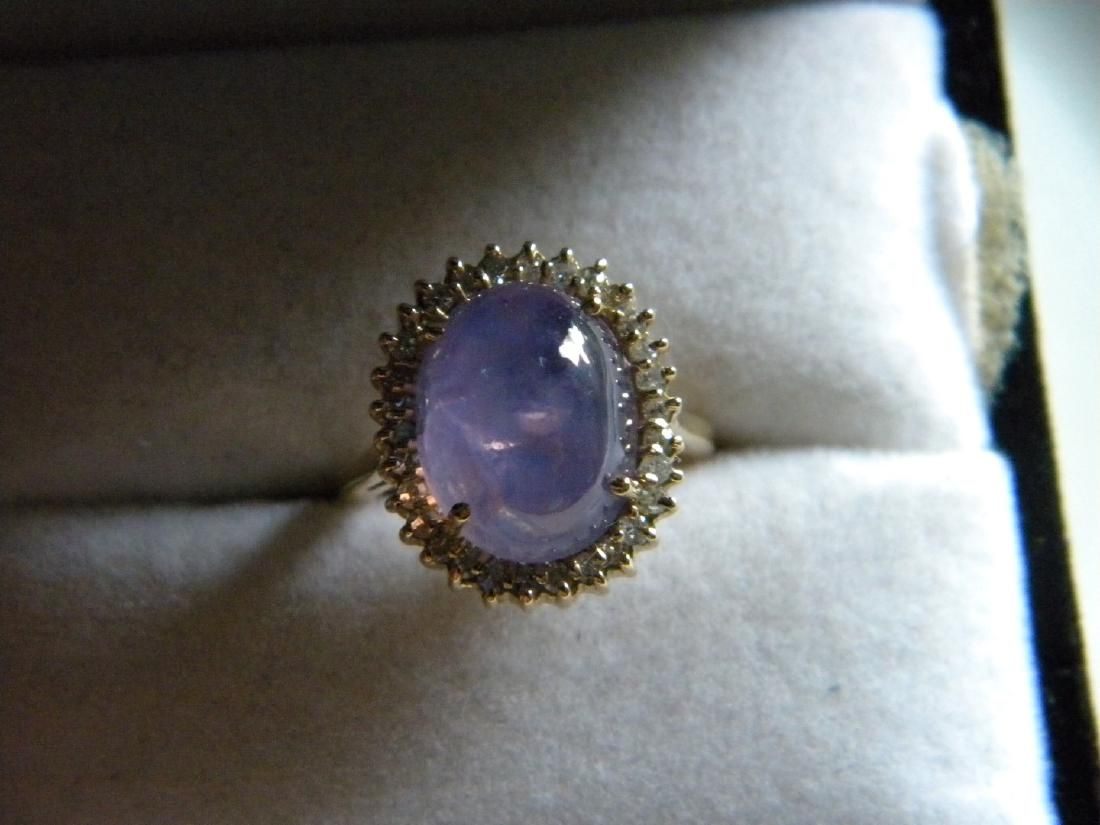 GIA Certified Icy Star Pink Sapphire 14K Gold Diamond
