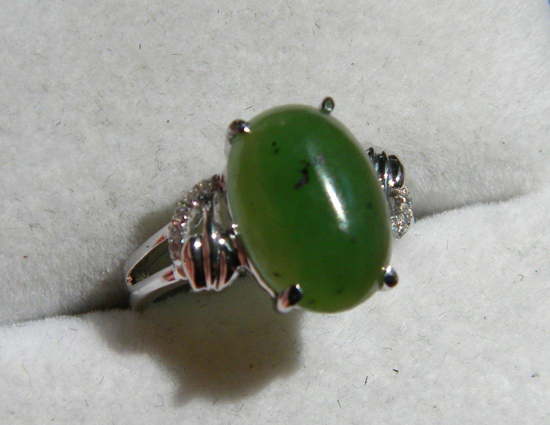 Nephrite Green Jade ring