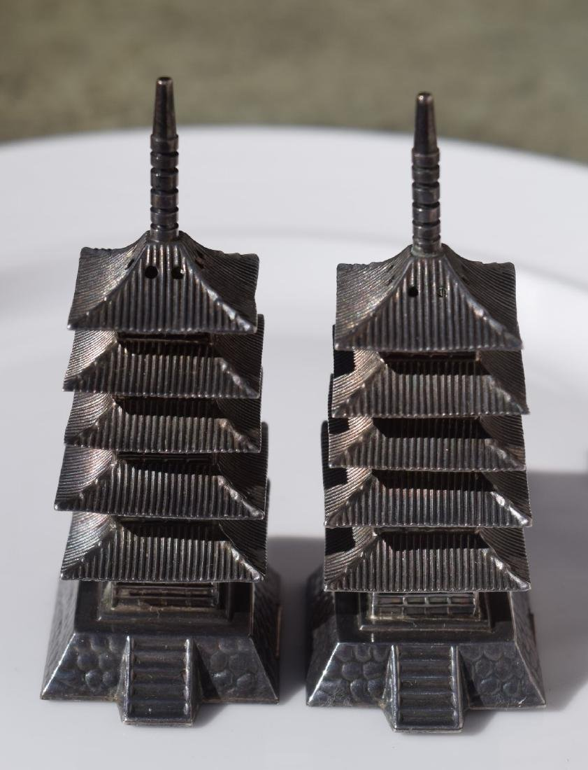 Pair of Sterling Silver Pagoda - 4