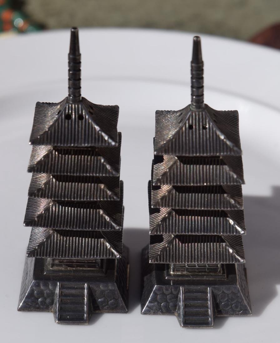 Pair of Sterling Silver Pagoda - 5