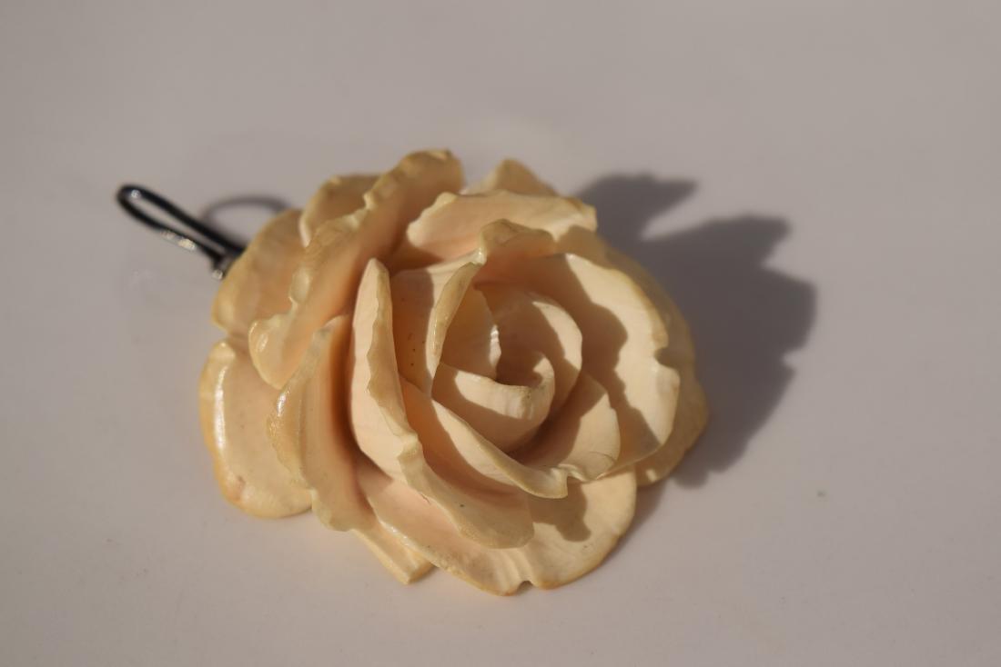A Huge Carved Flower Pendant