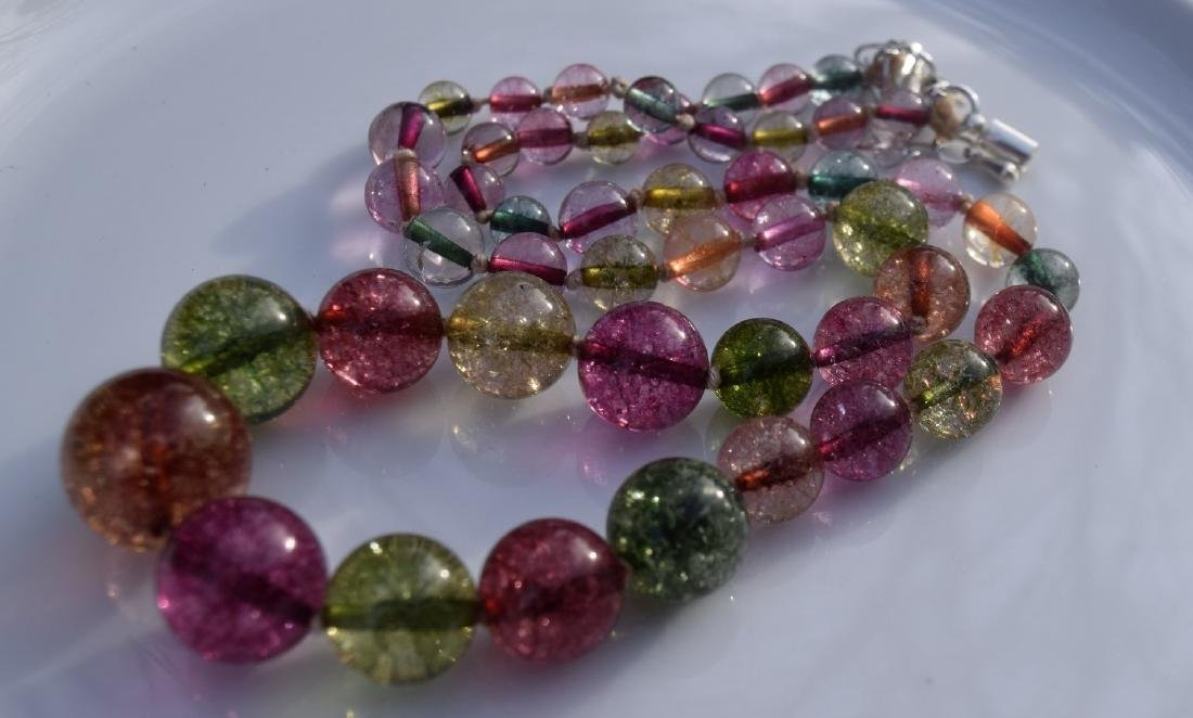 A Tourmaline Bead Necklace - 2