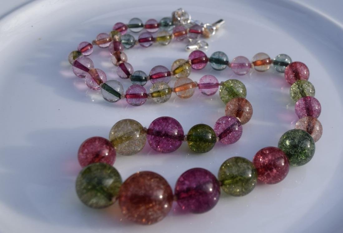 A Tourmaline Bead Necklace - 3