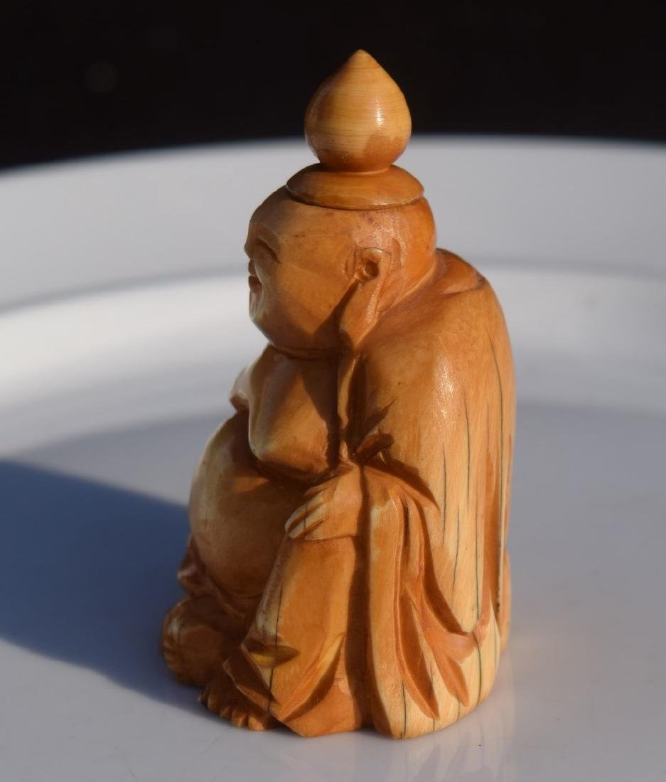 Antique Carved Buddha Snuff Bottle - 4