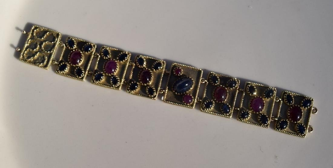 Vintage Ruby and Star Sapphier Bracelet