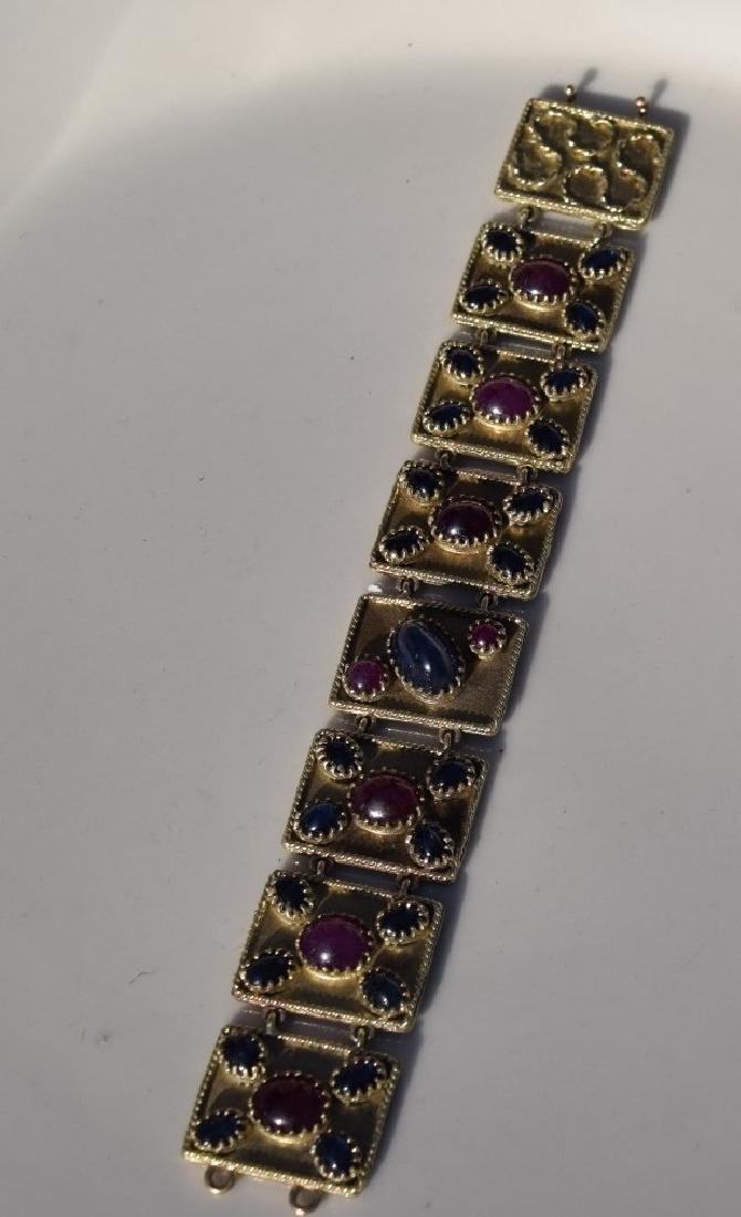 Vintage Ruby and Star Sapphier Bracelet - 2