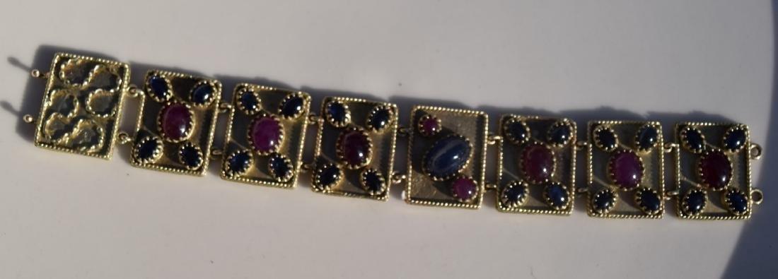 Vintage Ruby and Star Sapphier Bracelet - 3