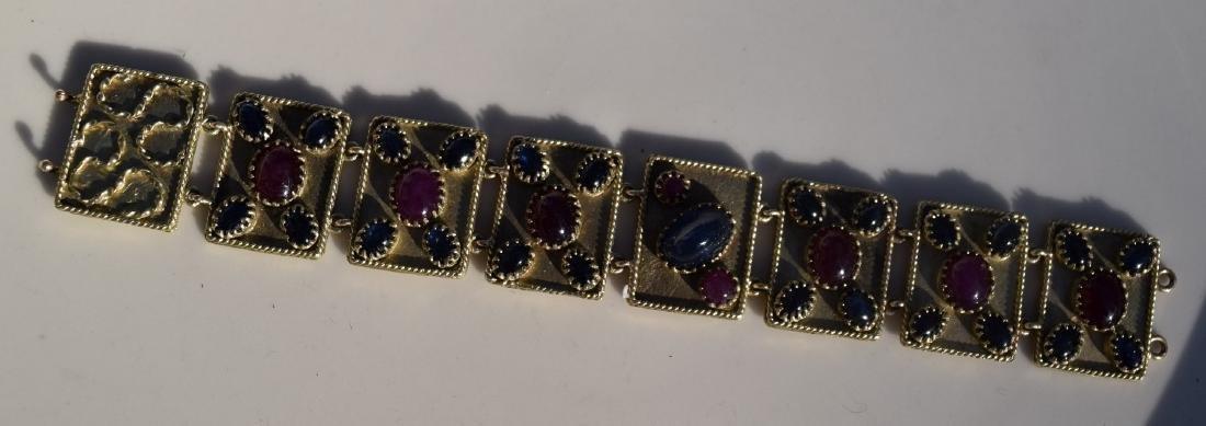 Vintage Ruby and Star Sapphier Bracelet - 4