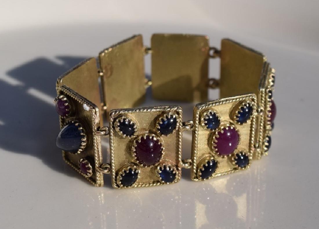 Vintage Ruby and Star Sapphier Bracelet - 5