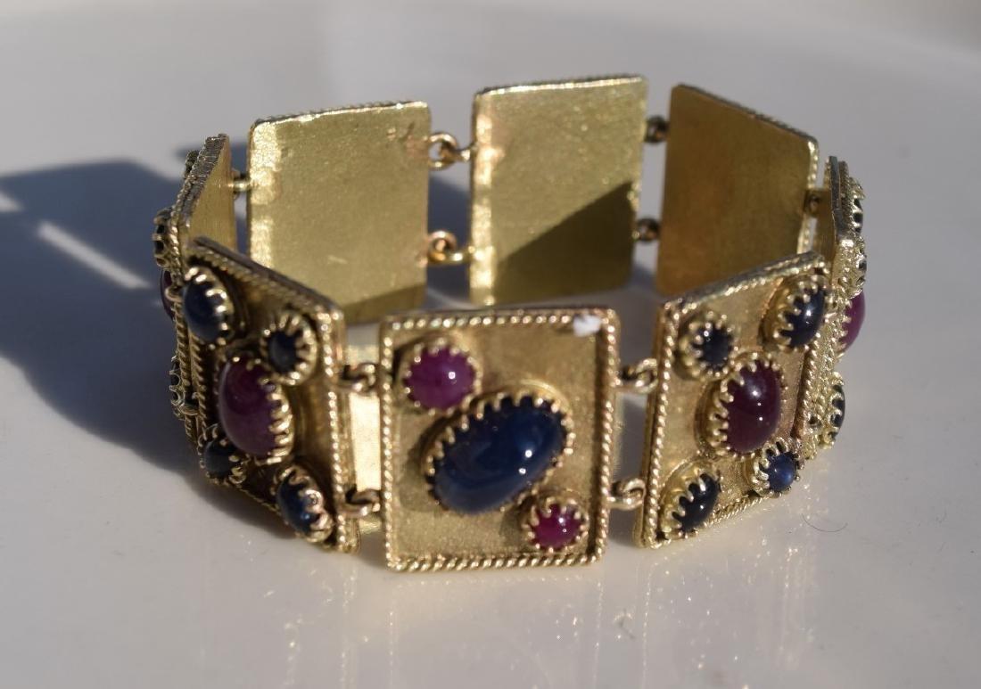 Vintage Ruby and Star Sapphier Bracelet - 6
