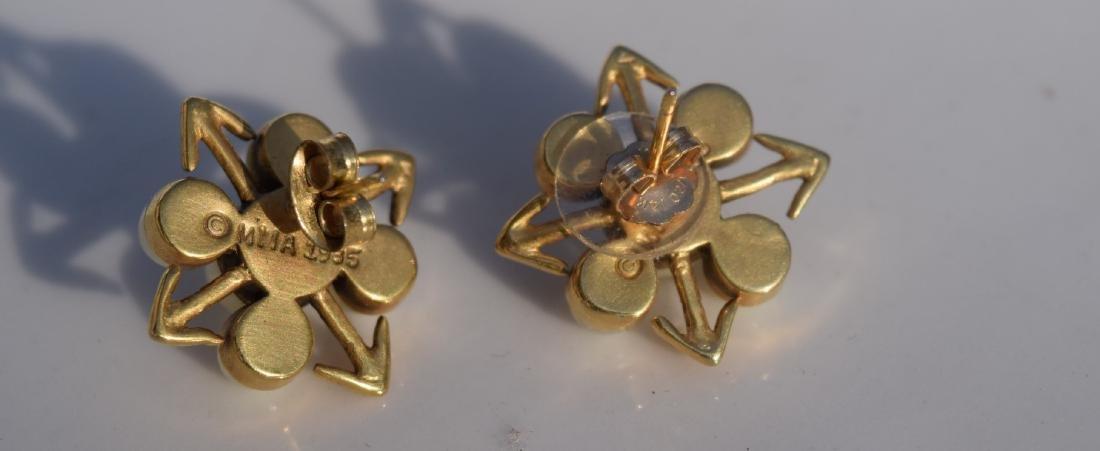 Pair of 14K Gold Pearl Earrings - 4