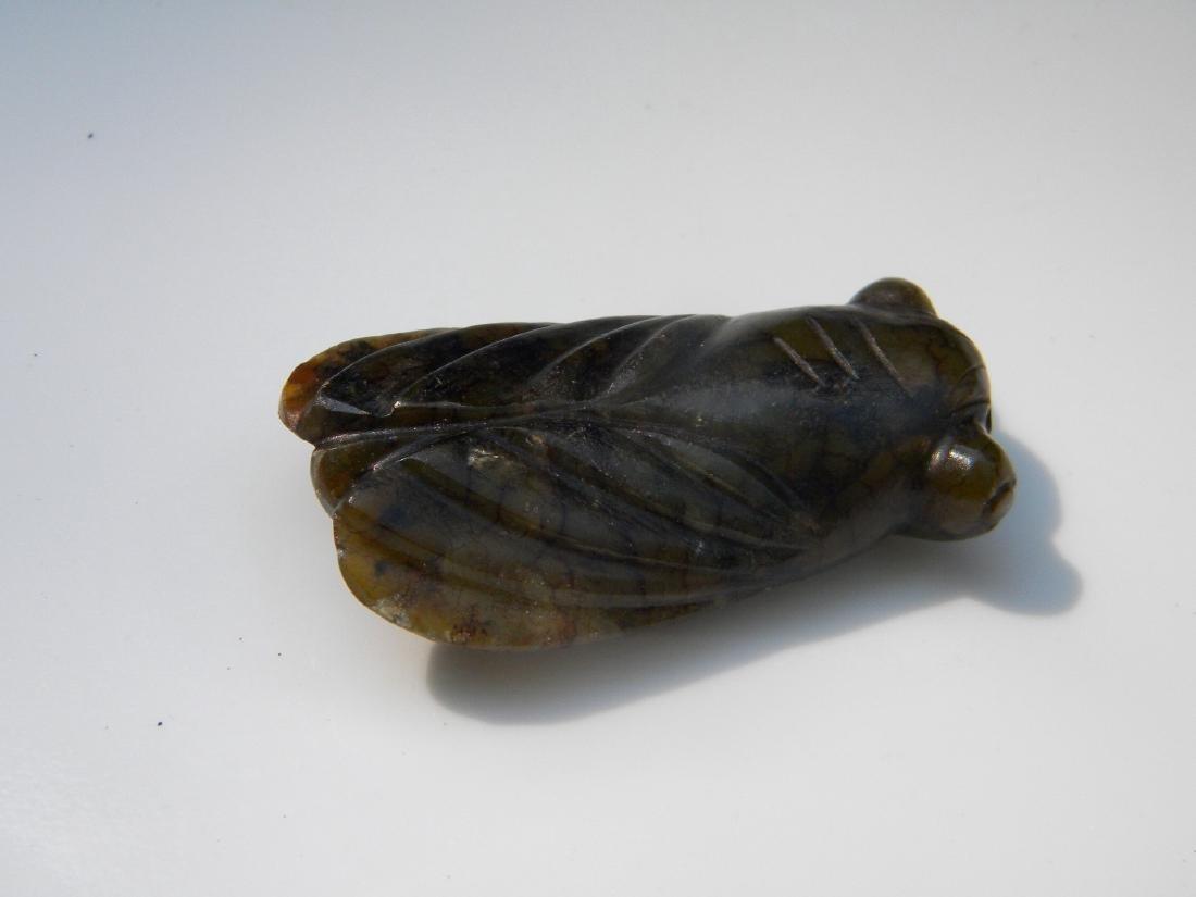 Antique Jade Cicada Statue - 3