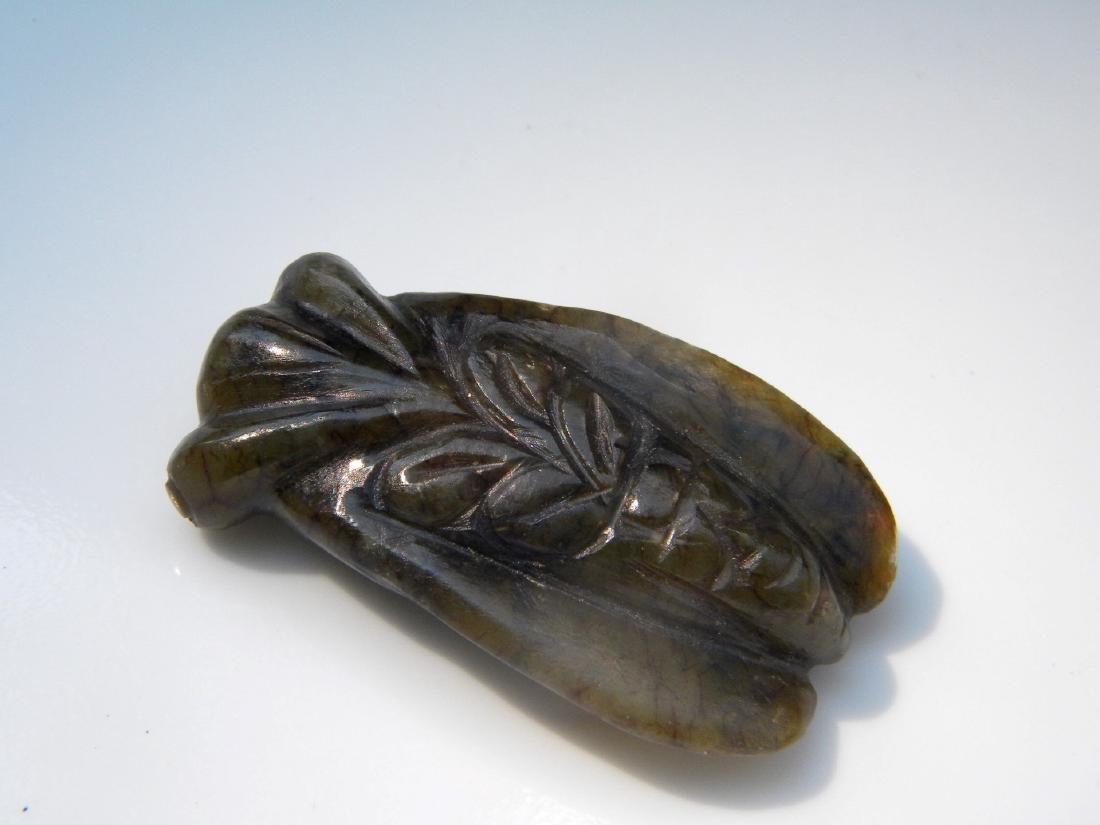 Antique Jade Cicada Statue - 5