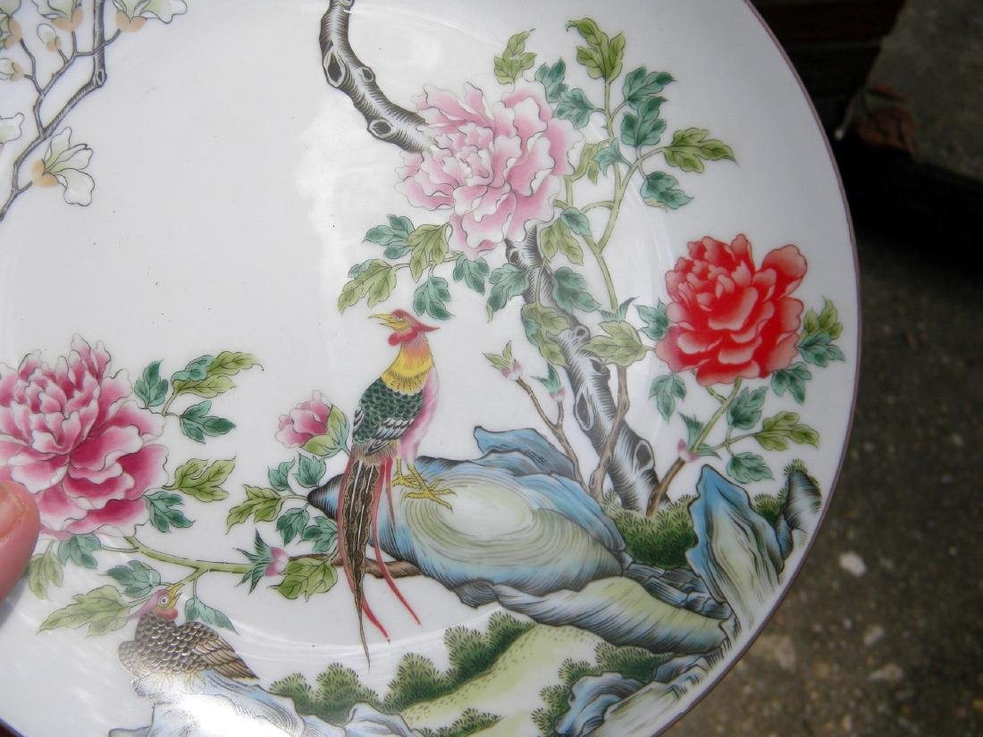 Chinese Phoenix Famille Rose Plate - 3