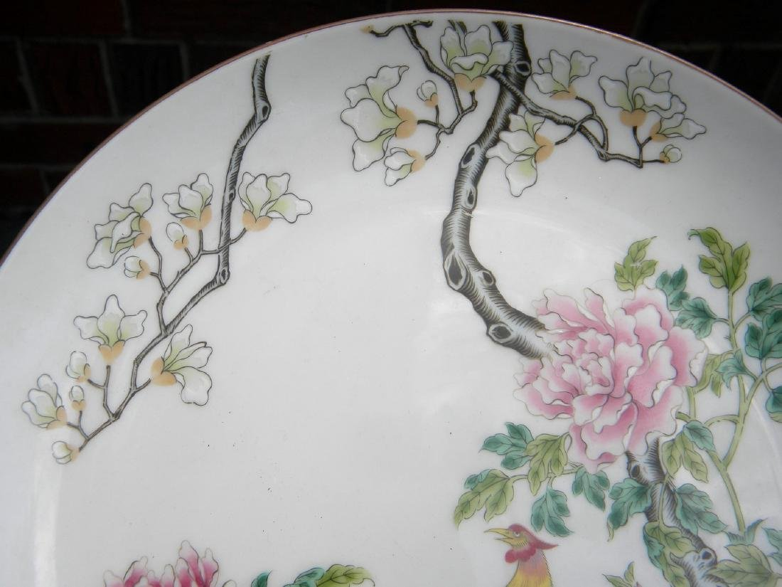 Chinese Phoenix Famille Rose Plate - 4
