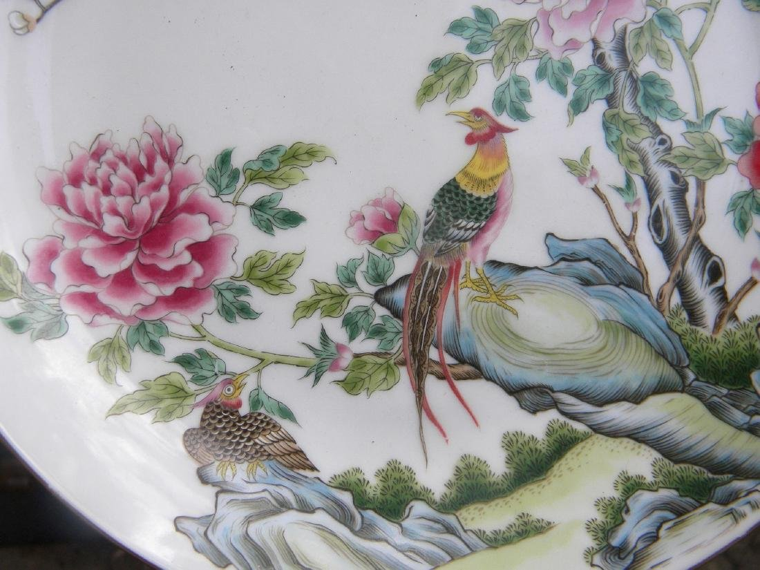 Chinese Phoenix Famille Rose Plate - 5