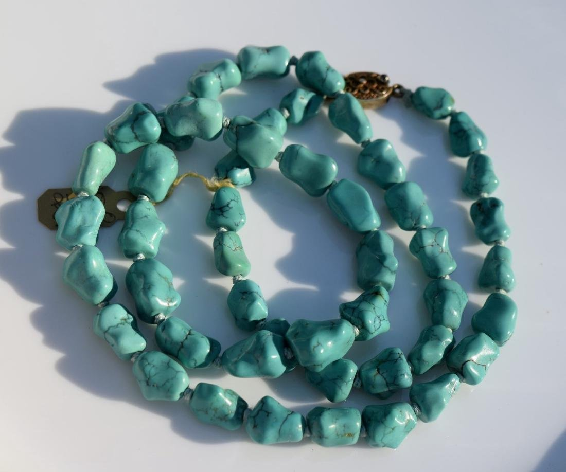 Antique Chinese Natural Turquoise Necklace