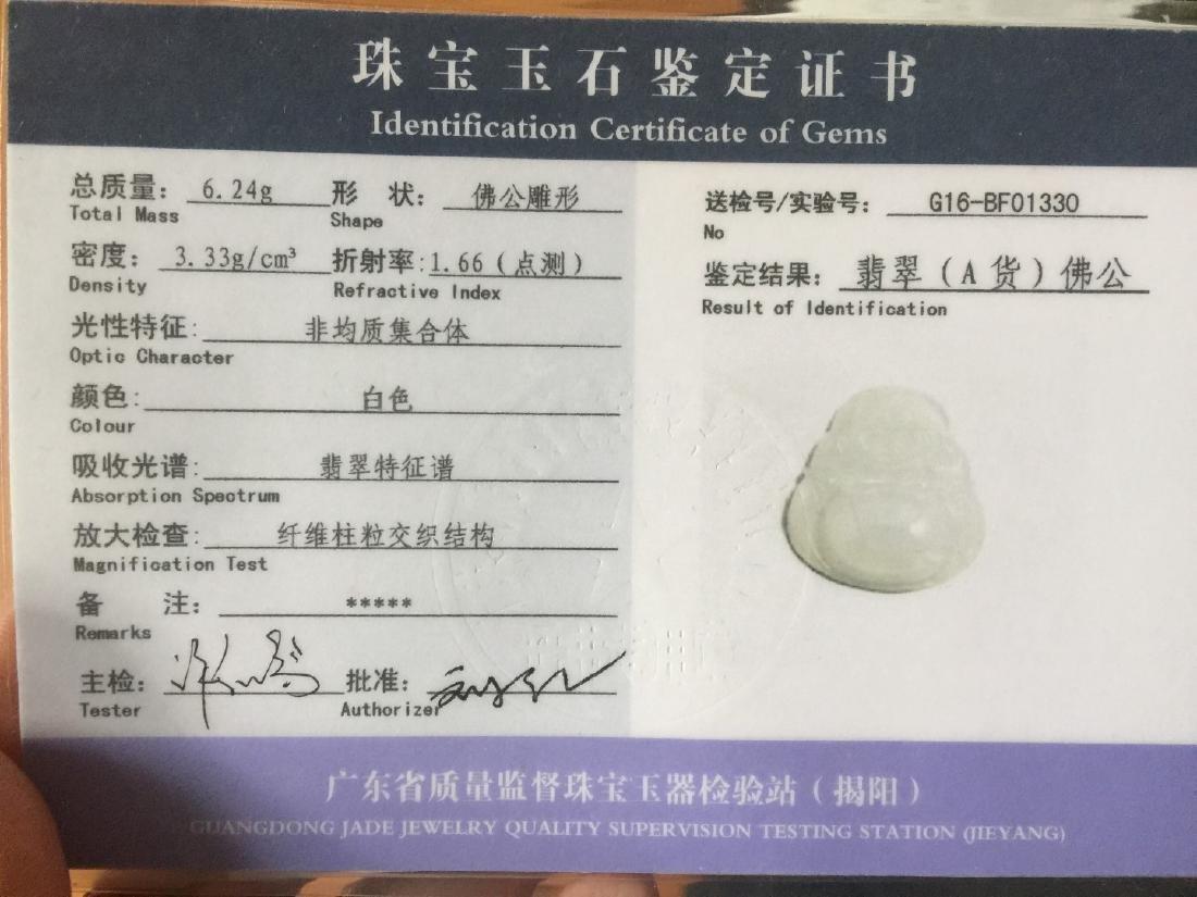 Natural Jadeite Buddha Pendant - 4