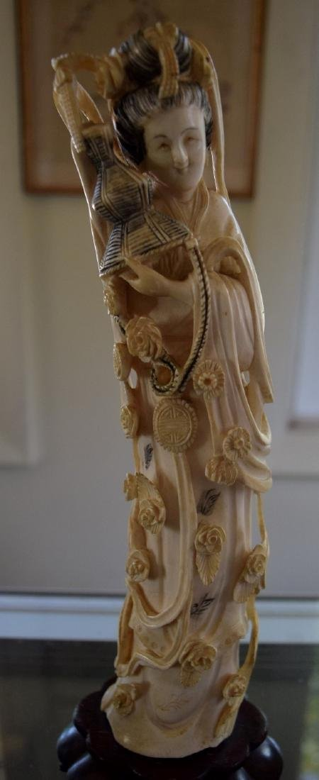 A CARVED BEAUTY FIGURE, QING DYNASTY - 5