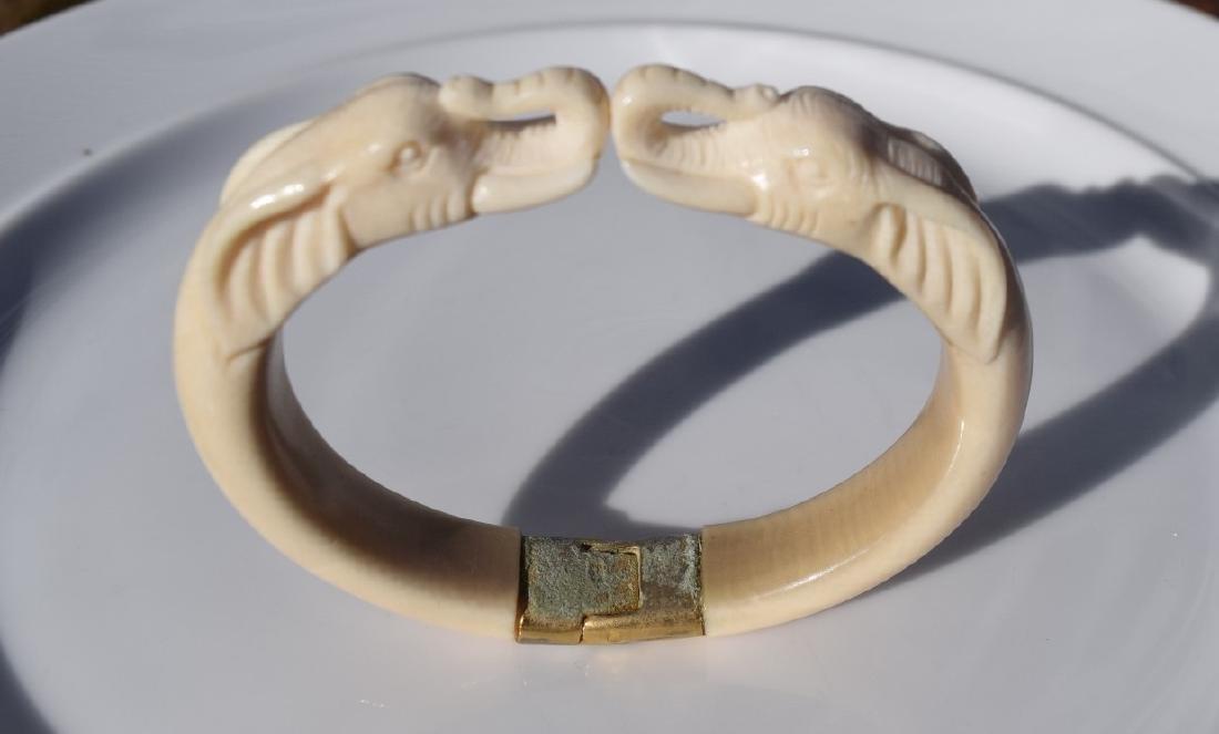 Carved Elephant Bracelet - 2